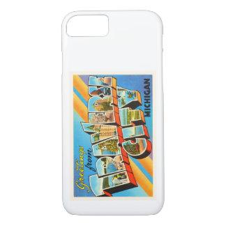 Traverse City Michigan MI Vintage Travel Souvenir iPhone 7 Case