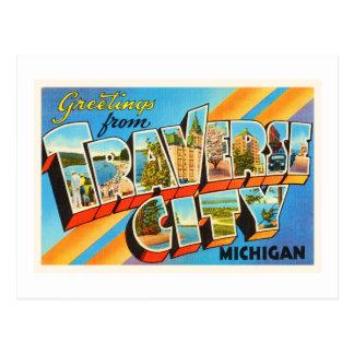 Traverse City Michigan MI Vintage Travel Souvenir Postcard