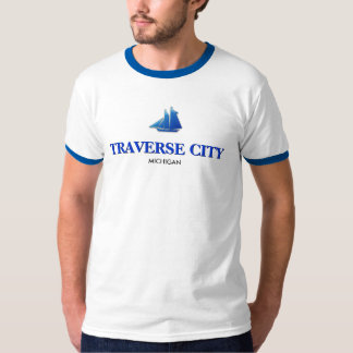 Traverse City, Michigan Ringer T-Shirt