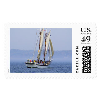 Traverse City Michigan Sailboat In Fog Stamps