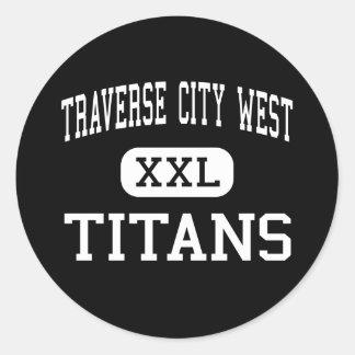 Traverse City West - Titans - High - Traverse City Stickers