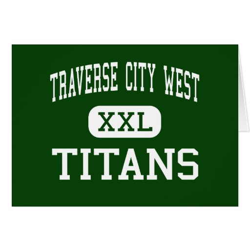Traverse City West - Titans - Traverse City Greeting Card