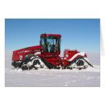 Traversing Arctic Tractor Greeting Card