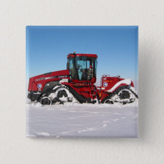Traversing Arctic Tractor Pinback Button