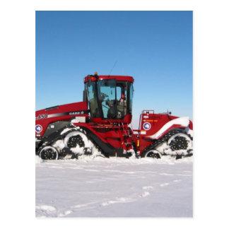 Traversing Arctic Tractor Postcard