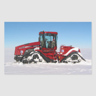 Traversing Arctic Tractor Rectangular Sticker