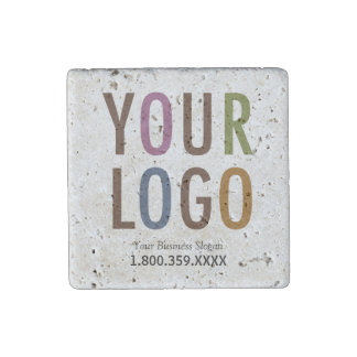 Travertine Magnet Custom Business Logo Promotional