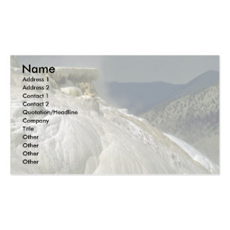 Travertine terraces, Yellowstone National Park, Ca Business Card Templates