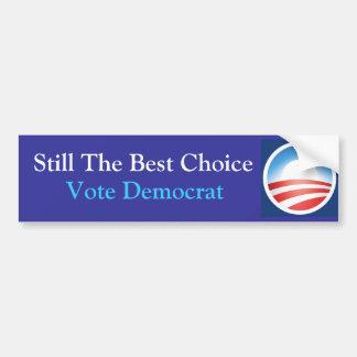 Travesaño la mejor opción: Obama: Azul Pegatina Para Auto