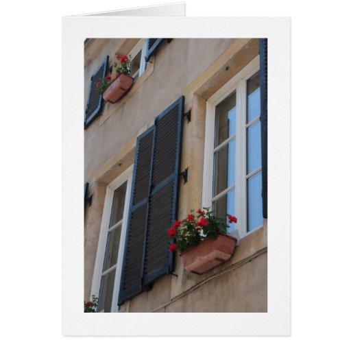 Travesaño Notecard de la ventana francesa Tarjeta Pequeña