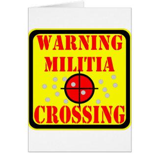Travesía amonestadora de la milicia con alcance de tarjeta de felicitación