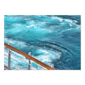 Travesía de Bahamas - estela de la turquesa Invitación 12,7 X 17,8 Cm