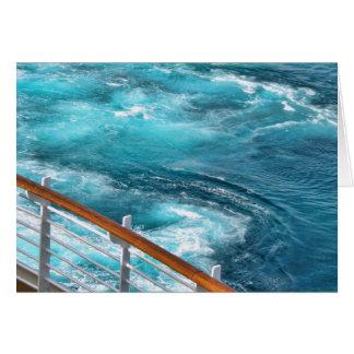 Travesía de Bahamas - estela de la turquesa Tarjeta De Felicitación