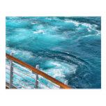 Travesía de Bahamas - estela de la turquesa Postales