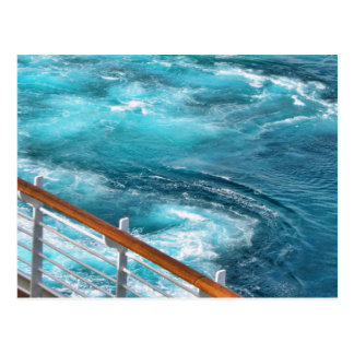 Travesía de Bahamas - estela de la turquesa Tarjetas Postales