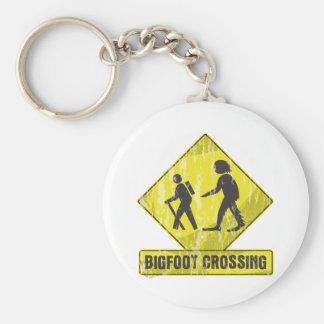 Travesía de Bigfoot Llavero Redondo Tipo Pin