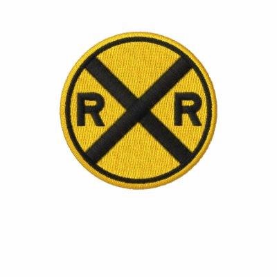 Travesía de ferrocarril chaqueta bordada de entrenamiento