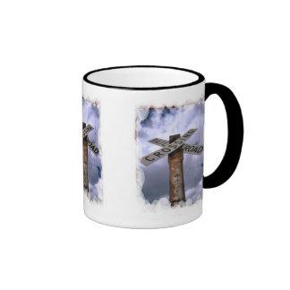 Travesía de ferrocarril tazas de café