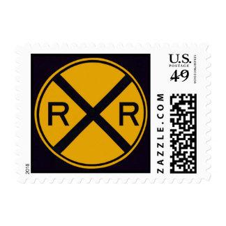Travesía de ferrocarril timbres postales