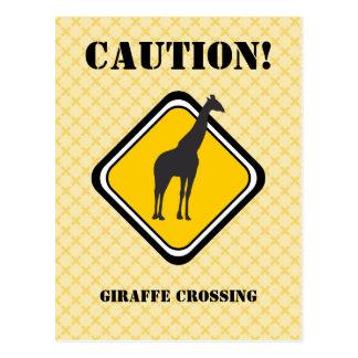 Travesía de la jirafa tarjeta postal