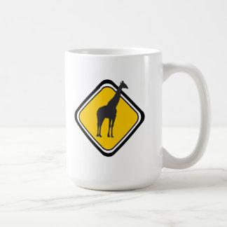 Travesía de la jirafa taza de café