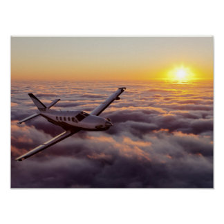 Travesía de la puesta del sol de TBM Posters