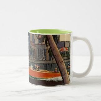 Travesía de la selva del barco de la velocidad del tazas de café