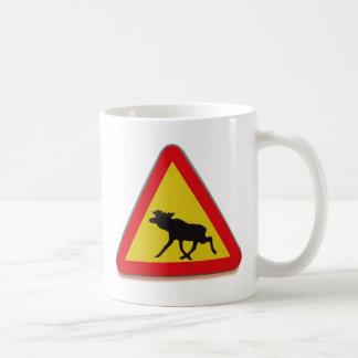 Travesía de los alces taza de café