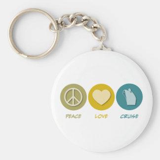 Travesía del amor de la paz llaveros