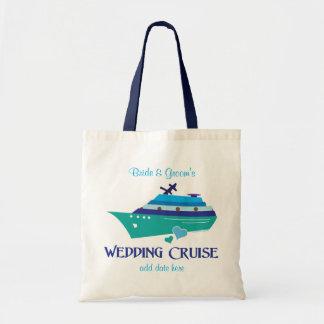 Travesía del boda bolsa tela barata