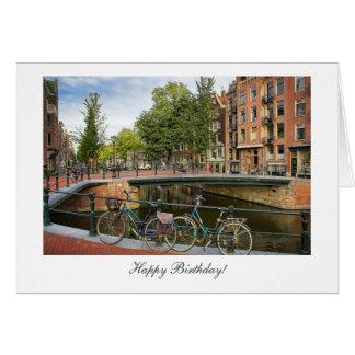 Travesía del canal - feliz cumpleaños tarjeta de felicitación