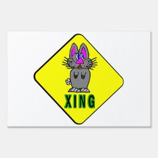 Travesía del conejo señal