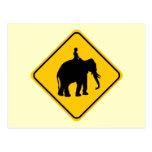 Travesía del jinete de Elephantback Tarjetas Postales