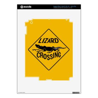 Travesía del lagarto, señal de peligro, New México Pegatina Skin Para iPad 3