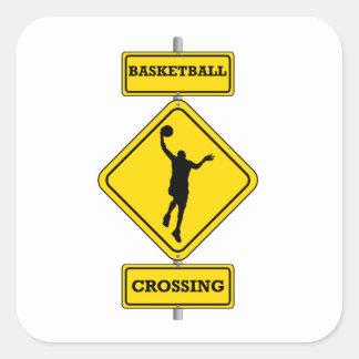 Travesía del Layup del baloncesto Colcomanias Cuadradass