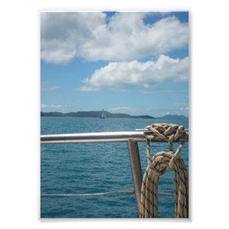 Travesía del océano fotografias