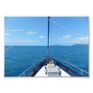 Travesía del océano arte fotográfico