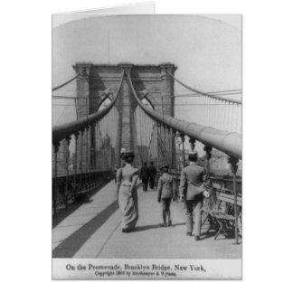 Travesía del puente de Brooklyn Tarjetón