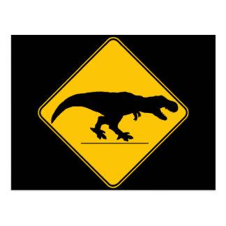 Travesía del rex del Tyrannosaurus Tarjeta Postal
