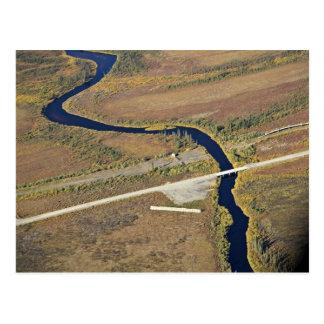 Travesía del río de Kanuti y de río de la carreter Tarjeta Postal