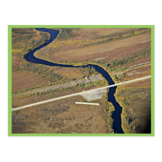 Travesía del río de Kanuti y de río de la carreter Postales