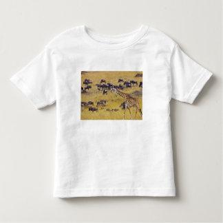 Travesía del río de Mara por las jirafas y Playera De Bebé