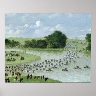 Travesía del río San Joaquin, Paraguay, 1865 Póster
