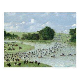 Travesía del río San Joaquin, Paraguay, 1865 Tarjetas Postales
