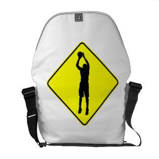Travesía del tiro en suspensión del baloncesto bolsas de mensajería
