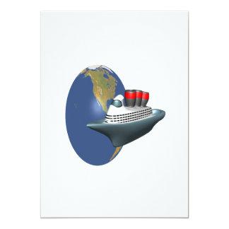Travesía mundial invitación 12,7 x 17,8 cm