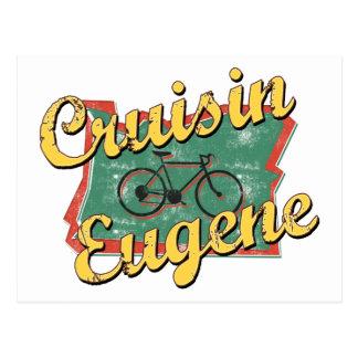 Travesía Oregon de Eugene de la bici Tarjeta Postal