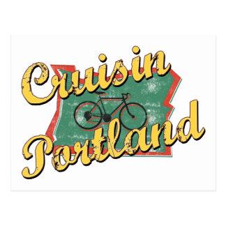 Travesía Oregon de Portland de la bici Tarjeta Postal