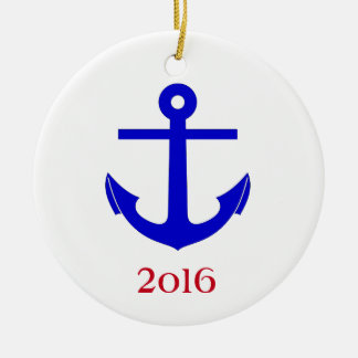 Travesía/reunión náutica (o acontecimiento) adorno navideño redondo de cerámica