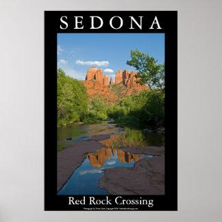 Travesía roja de la roca en Sedona 4160 Póster